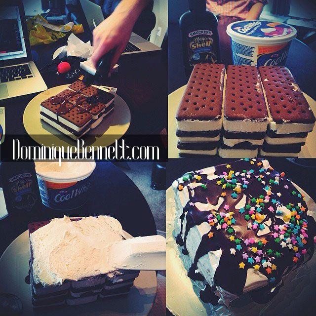 Pinterest Made Me Do It: IceCream Sandwich Cake | DominiqueBennett