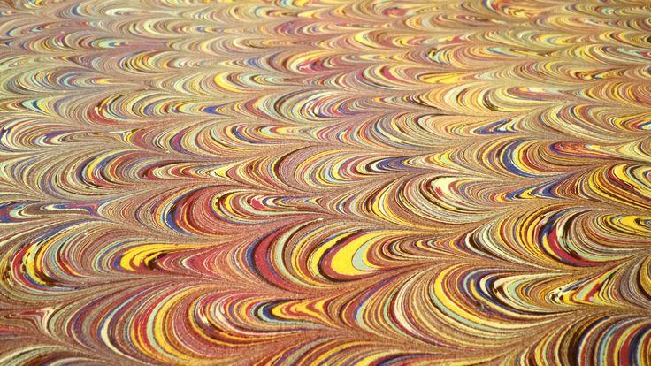 marbling paper, papel marmoleado 35x 50 cms. de MARIMINE en Etsy