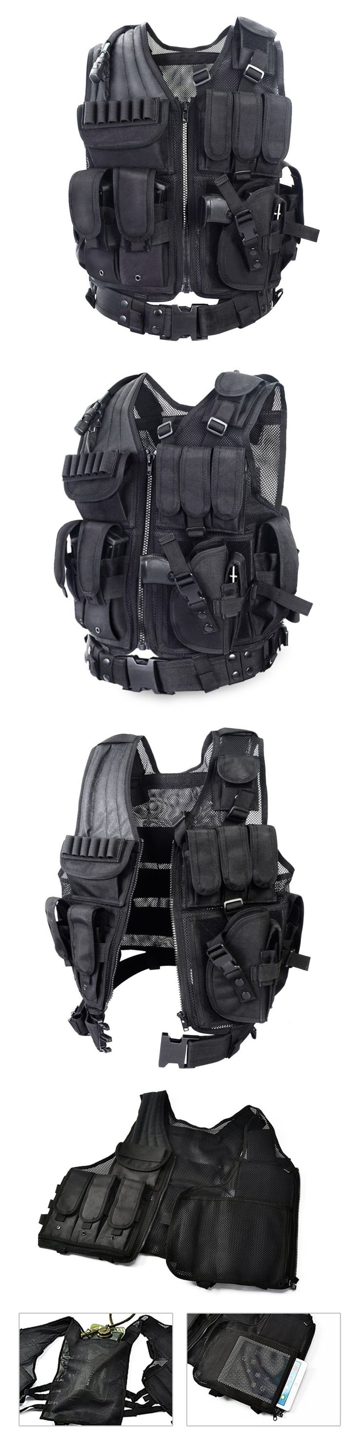 Chest Rigs and Tactical Vests 177891: Yakeda - Tactical Swat Police Military Hunting Survival Scenario Vest Body Armor -> BUY IT NOW ONLY: $43.88 on eBay!