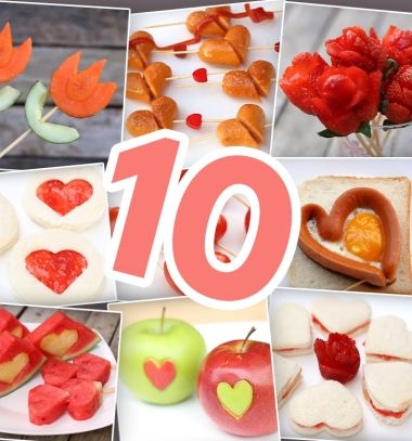 10 Quick and easy DIY Valentine's day food ideas // 10 egyszerű és gyors romantikus étel ötlet ( Valentin napra )  // Mindy - craft tutorial collection