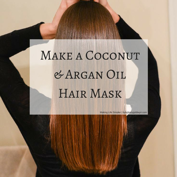 Learn how to make a hair mask using coconut oil and Argan oil as your base ingredients.