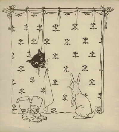 """Illustration by Walter Crane from """"Puss in Boots"""" (Ed. 1897)"""