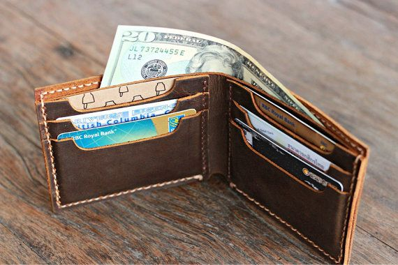 Big Texas Wallet PERSONALIZED the Manly Mans Leather by JooJoobs