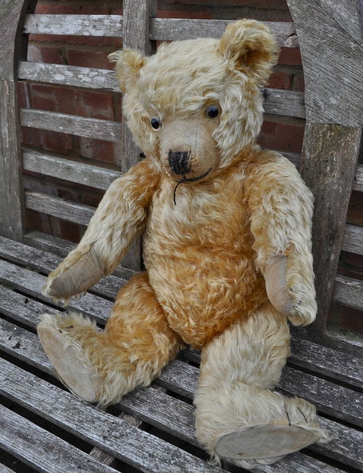A Lovely Antique Vintage Chiltern Hugmee Mohair Teddy Bear 1930s | eBay