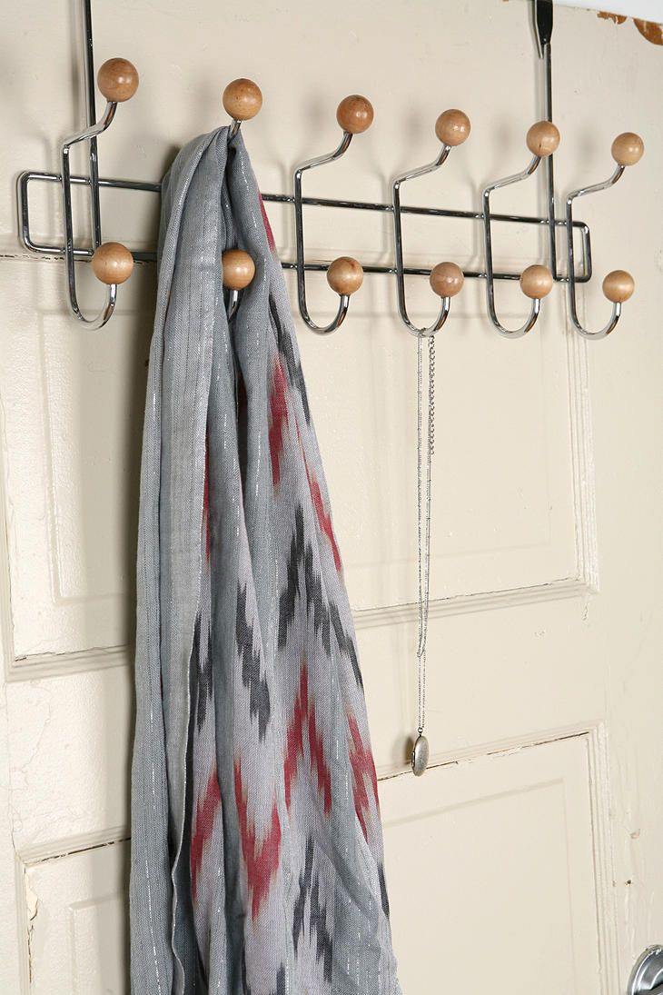Oppenhiemer Over-The-Door Hook...cute if you need this over your bathroom or one of the closet doors. if you put it over one of the closet doors on the right, it could be a coat hook for visitors!