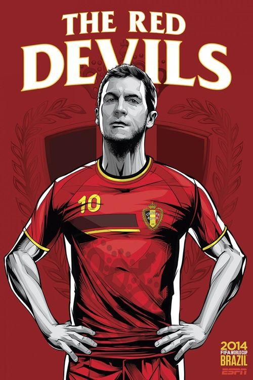 Bélgica poster copa do mundo 2014