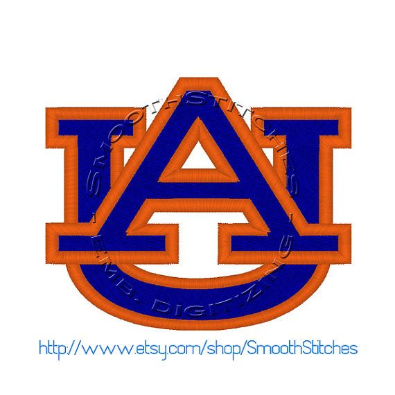 Auburn Uni Football Design for Embroidery Machine - Instant Download