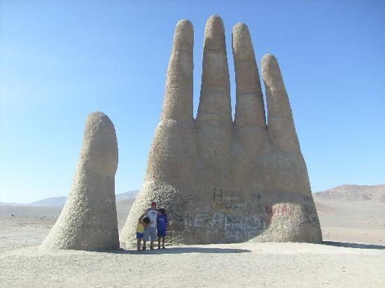 Desert hand in Chile