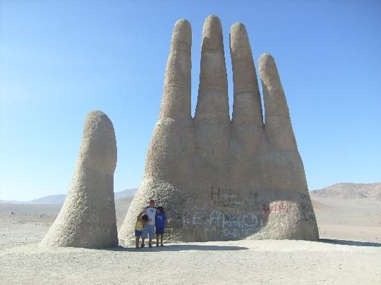 Desert hand in Chile