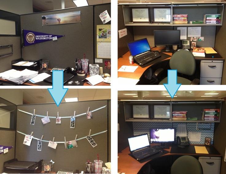 Desk Organization Ideas Cubicle