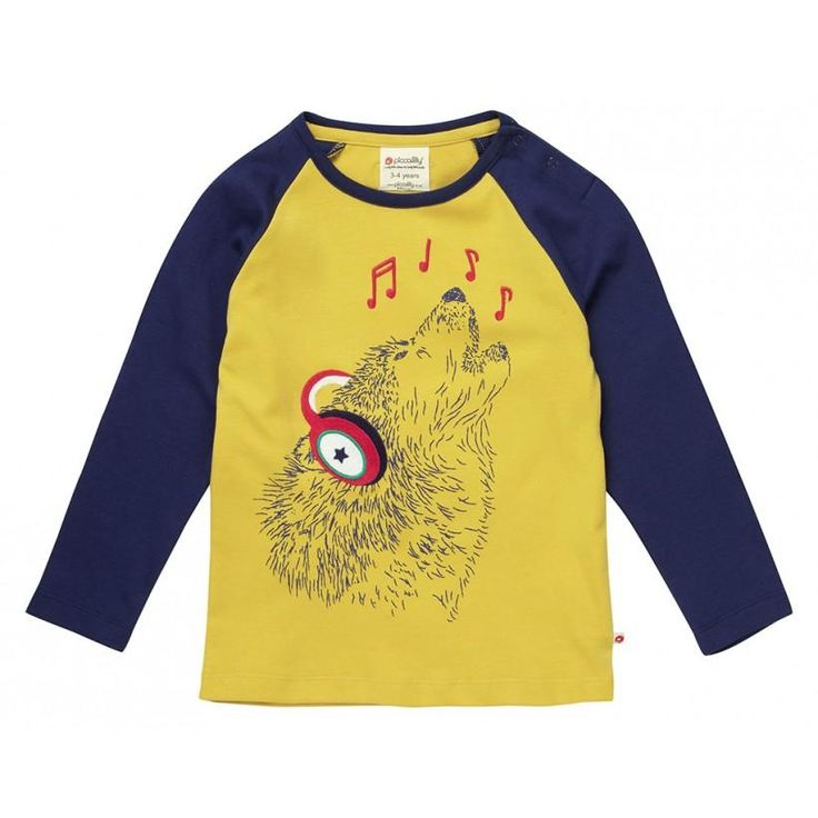 Wolf Long Sleeve Shirt  from Piccalilly. Available at Modern Rascals.