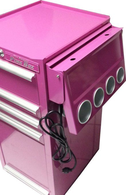 The Original Pink Box PB1PS Power Shelf for Salon Cart, Pink - Amazon.com