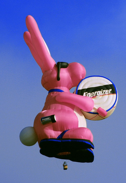 The Energizer Bunny Hot Air Balloon, larger than the Statue of Liberty by Beverly & Pack, via Flickr