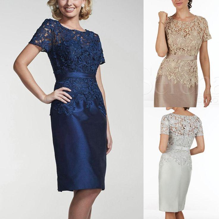 2016 Elegant Mother Of The Bride Lace Dress Knee Length Special Occasion Dresses Vestidos De Madrinha Short Alipay Paypal