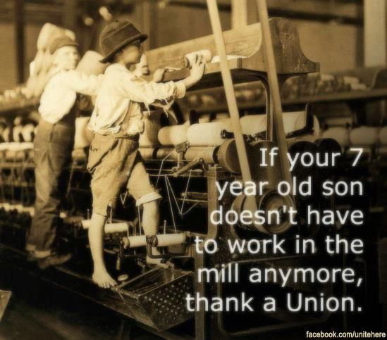 No to child labor. Yes to unions!