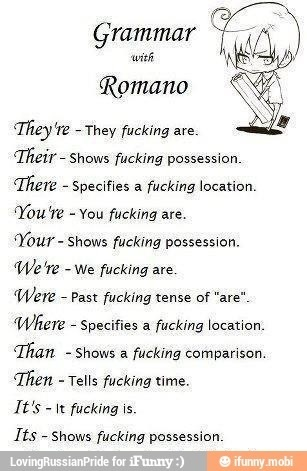 English to Romano-speak dictionary. HEY ABBIE THIS MIGHT HELP YOU.