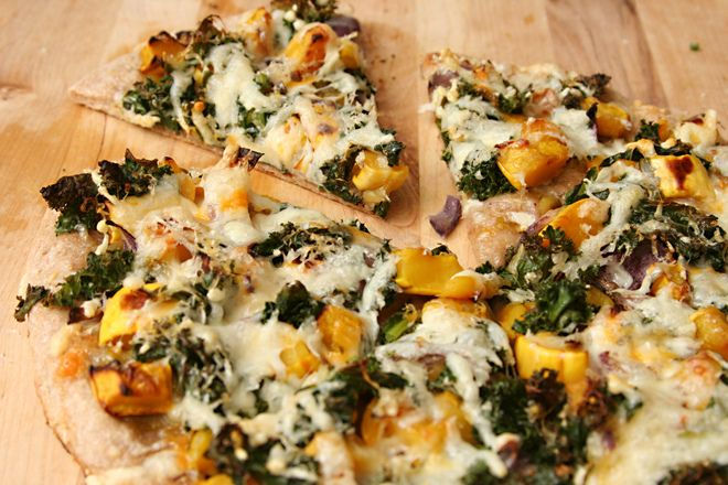 Kale and Butternut Squash Pizza