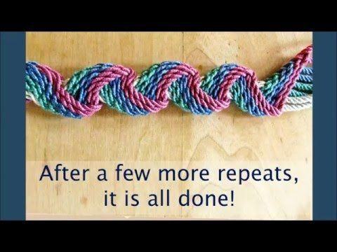 "Ply Split Braiding:  The ""Waffle"" Braid - YouTube"