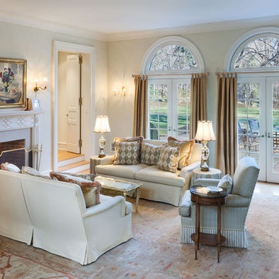 Living room arch window treatments arched windows for Best arch designs living room