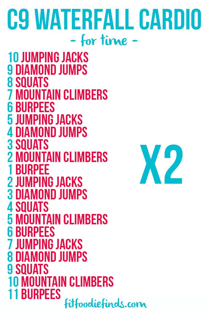 Waterfall Cardio Workout