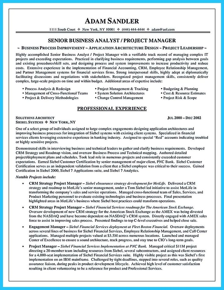 cool Create Your Astonishing Business Analyst Resume and Gain the Position,