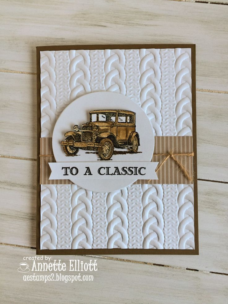 Hello, crafty friends!  Today, I am sharing a card I made using a new product from the upcoming 2016 Holiday Catalog called the Cable Knit D...