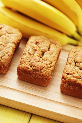 GUTSY'S COCONUT-FLOUR BANANA BREAD:  Coconut flour is a great alternative for those looking for gluten-free and/or grain-free recipes.  You can't just substitute it into any recipe, though, because it soaks up moisture like a sponge.  Instead, you need a recipe like this one, that's designed for coconut flour. (MARIA RICKERT HONG NUTRITIONAL HEALING, www.MariaRickertHong.com)