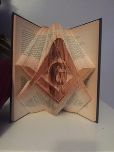 Freemason book folding pattern plus free beginners tutorial ~ Masonic Mason by…