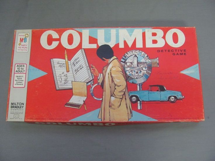 Vintage Columbo Detective Board Game 100% Complete Milton Bradley | Toys & Hobbies, Games, Board & Traditional Games | eBay!