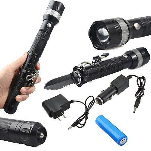 ledsniperBrightest Tactical Flashlight Torch ,Multifunctional Self Defense Survival Knife, Adjustable Focus Zoomable, CREE Q5 LED, 3 Modes, 500 Lumens,Outdoor Sport come with wall&car charger  http://stylexotic.com/ledsniperbrightest-tactical-flashlight-torch-multifunctional-self-defense-survival-knife-adjustable-focus-zoomable-cree-q5-led-3-modes-500-lumensoutdoor-sport-come-with-wallcar-charger/