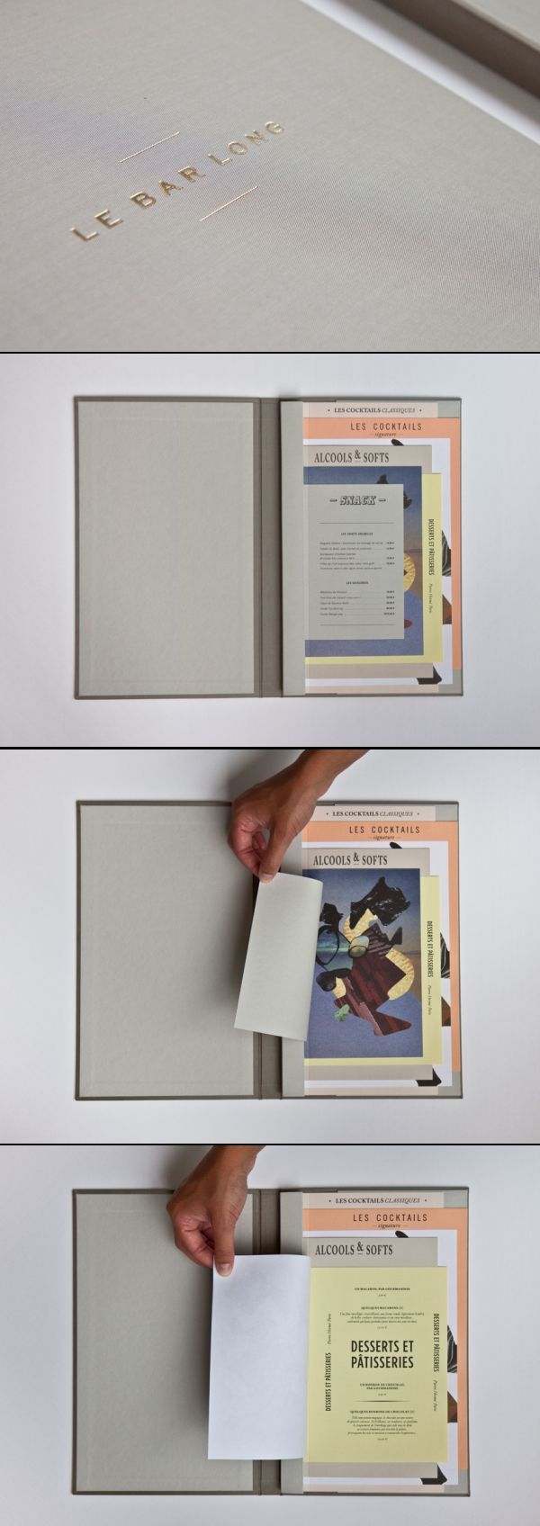 #Design of the bar Le bar long's #menu #graphic design