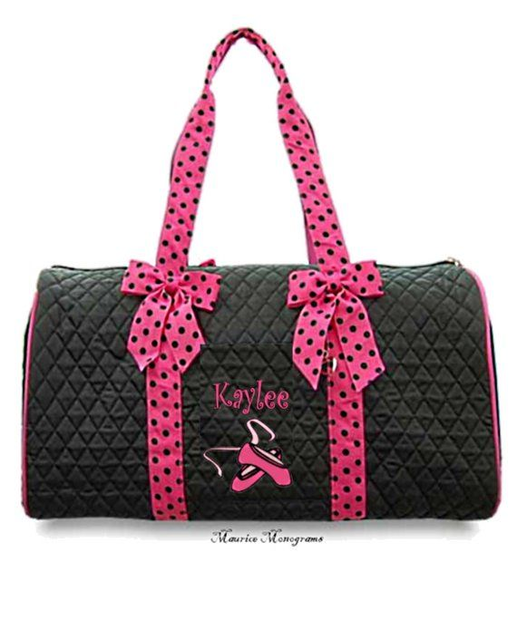 Quilted Dance Duffle Bag Ballet Slippers