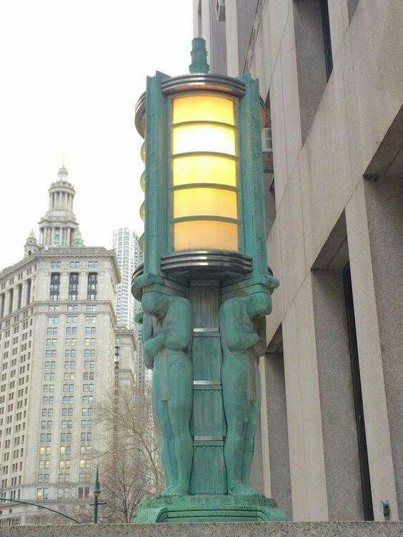 Art Deco Street Light outside the NYC Dept of Health Building