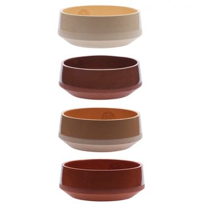 Bowls large part of the Clay service by Lonny van Ryswyck and Nadine Sterk (Atelier NL) for Royal Tichelaar Makkum.