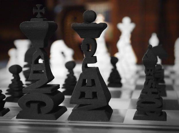 Шахматы-слова Shapeways