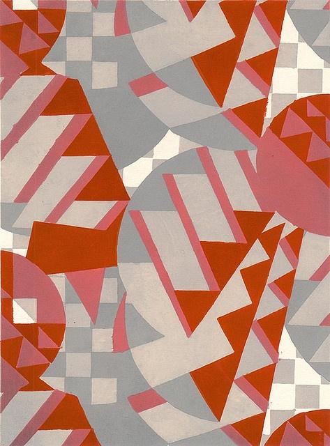 Art Deco: Style: Strong block colour shapes: art deco wallpaper