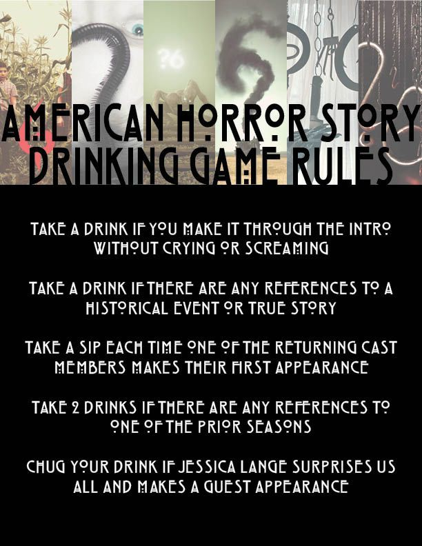 AHS Season 6 drinking game rules for the Sept. 14th premiere!