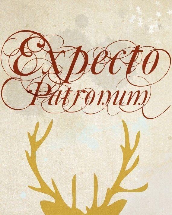 Expecto Patronum - impresión de tipografía by NanLawson
