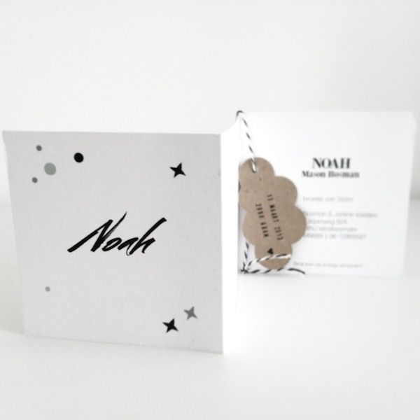 AprilandMay MINI: birth announcement card