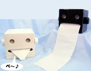 For Kids' Toilet room - Robot Toilet Paper Holder
