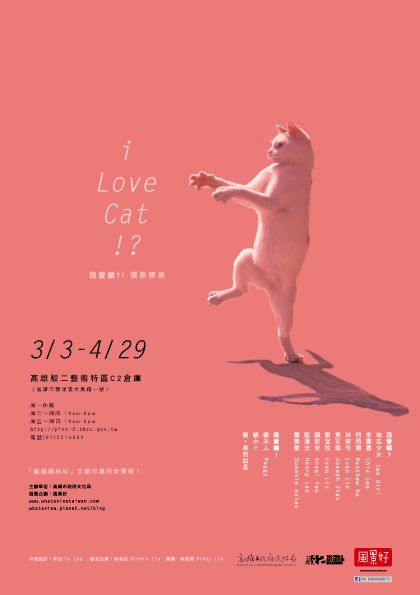 Cat photographic exhibition Japanese poster (2012)