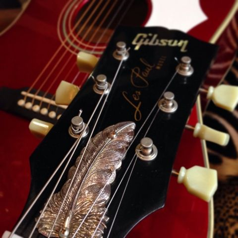 """Eagle Feather"" Truss Rod Cover for Gibson guitars! 