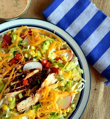 This Grilled Chicken Salad is perfect for a summer BBQ!