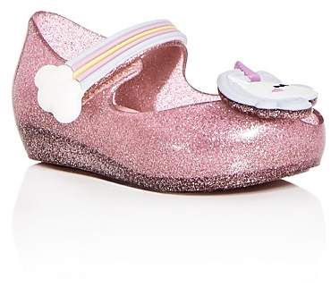 7664129edf2 Mini Melissa Girls  Ultragirl Unicorn Mary Jane Flats - Walker ...