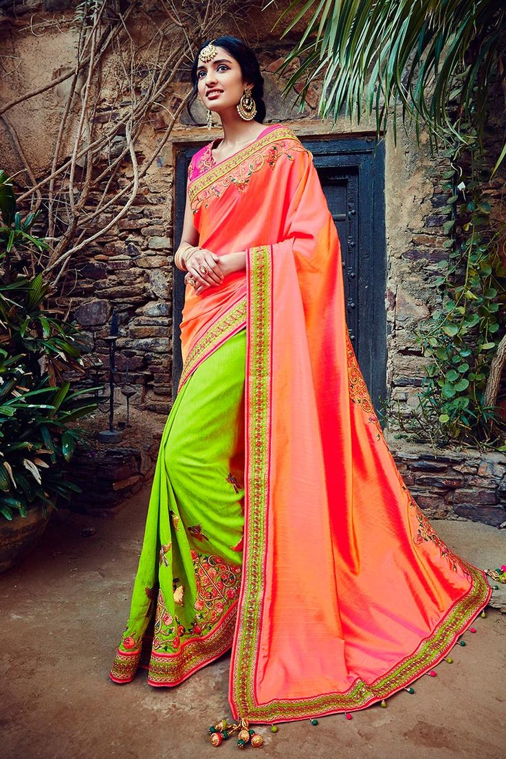 #Beauteous #Peach-#Green Color Heavy #Wedding #Saree in #Tussar #Silk Fabric. Buy Now :- http://www.lalgulal.com/sarees/beauteous-peach-green-color-heavy-wedding-saree-in-tussar-silk-fabric-1114 Get 10% #Discount on First Shopping #FreeShipping & #CashOnDelivery In India E-mail us for any query: info@lalgulal.com or Call us at: +91 95121 50402.