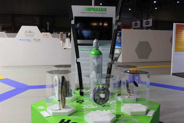 Materiales fabricados con gases. Muestra de diversos materiales que se fabrican a partir de gases industriales. (PRAXAIR)