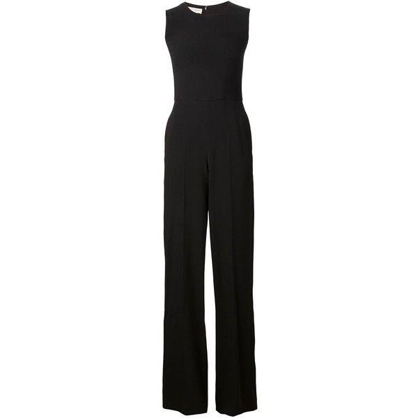 Stella McCartney Wide Leg Jumpsuit (88,435 DOP) ❤ liked on Polyvore featuring jumpsuits, jumpsuit, dresses, one-piece, kirna zabete, black sleeveless jumpsuit, black jumpsuit, jumpsuits & rompers, jump suit and stella mccartney jumpsuit