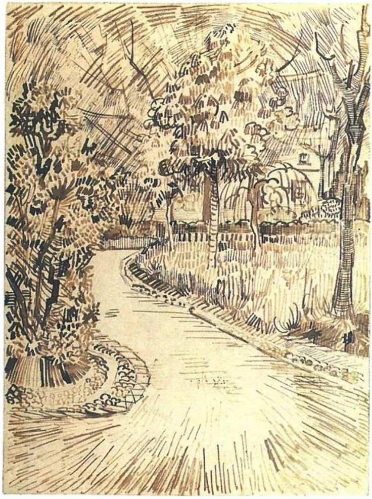 "vincentvangogh-art: ""Public Garden with a Corner of the Yellow House, 1888 Vincent van Gogh """
