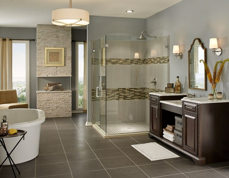 Photos Of Dimensions Concrete Porcelain floor tile creates a durable u subtle backdrop for bathroom floors that coordinates with variety of products from MSI