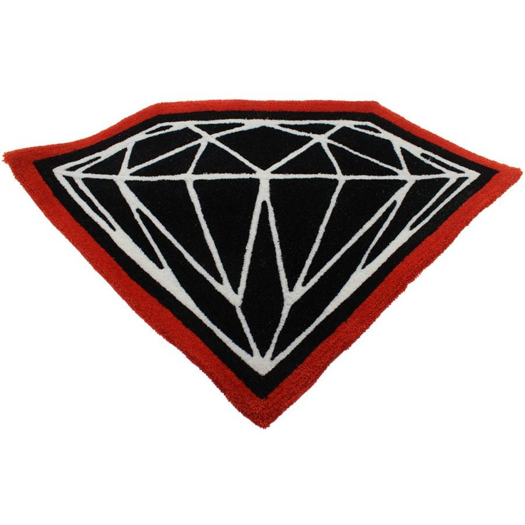 Diamond Supply Company Brilliant Door Mat in blackand red